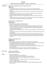 Clinical Sales Specialist Resume Samples Velvet Jobs