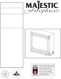 majestic appliances indoor fireplace 36ldvr user guide Majestic Fireplace Wiring Diagram installation instructions and homeowner's manual majestic fireplace wiring diagram