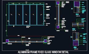 aluminium frame fixed glass window