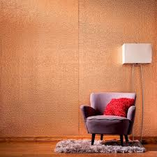 hammered decorative wall panel in polished copper