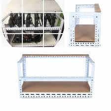 6 GPU <b>Open Air</b> Mining Miner Frame Crypto Coin DIY Stackable Rig ...