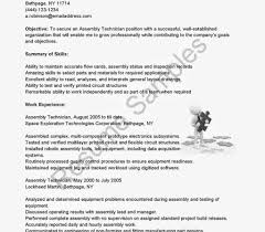 Sample Aviation Resume Sample Qa Test Technician Resume Electronics Template Digital For 58