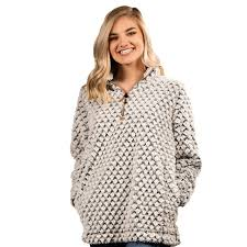 Simply Southern Sherpa Size Chart Simply Southern Heather Grey Fuzzy Pullover