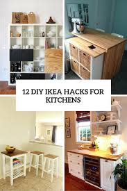 For Kitchens 12 Functional And Smart Diy Ikea Hacks For Kitchens Shelterness