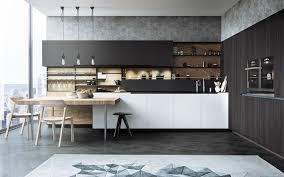 Black N White Kitchens Kitchen Design Butcher Block Counter With Glass Windows Stunning