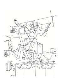 Minecraft Coloring Pages Herobrine Coloring Pages