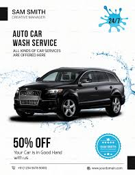 Car Wash Flyer Template Auto Car Wash Flyer Design Template In PSD Word Publisher 5