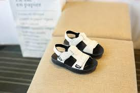 super fashion 2018 new summer korean version of the leather boys sandals non slip soft bottom male baby sandals 1 3 6 years old beach shoes 550373037401