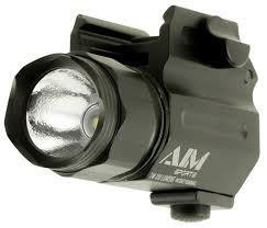 Aim Pistol Light Aim Sports Compact Flashlight 330 Lumens Cr123 2 Black