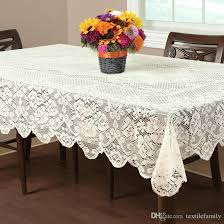 wedding table linens on fl elegant lace tablecloths round lace table cover white or ivory wedding table linens