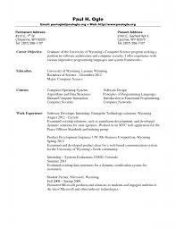 Objective In Resume For Computer Science Fresh Graduate Computer Science Resume Template Example Resume 87