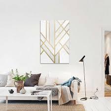 Salon-scandinave-Tableau-Art-deco-Geometry-de-Elisabeth-Fredriksson ...