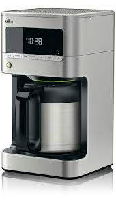 Now prepare the coffee, and turn on the switch on the coffee maker. Braun Kf7175si Brewsense Drip Coffee Maker With Pureflavor Technology Anti Drip System Thermal Carafe Programmable 24 Hour Timer Brew Strength Selector Small Pot Setting Descale Warning And Lcd Display