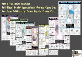 Exercise Chart For Men Gym Work Out Chart Weight Training Chart Men Gym Body Chart