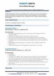 Resume skills for social media manager. Social Media Manager Resume Samples Qwikresume