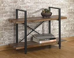 industrial look furniture. O\u0026K Furniture 2-Tier Rustic Wood Metal Bookshelves, Industrial Style  Bookcases Industrial Look Furniture E