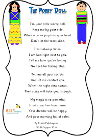Worry Doll Poem - Elsa Support