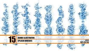 Hydronix Free Water Splash Brushes Illustrator