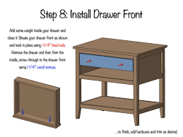 Easy Table Plans Diy Bedside Table With Drawer And Shelf Free Plans