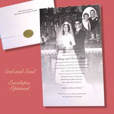 wedding anniversary photo keepsake invitation item ann6706