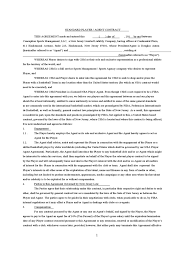 Sales Agent Contract 24 Images Of Sales Agent Agreement Template Lastplant 11