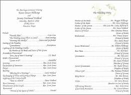 Wedding Program Templates Free Download Letter Of Intent Template