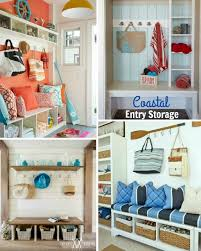 Get organized & coastal with these simple entryway storage ideas. Do it  yourself or Shop the Look!