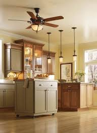 Small Island Under Awesome Kitchen Ceiling Lights With Wooden Light In