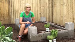 Small Picture Cement Block Raised Bed Burpee Garden Projects YouTube