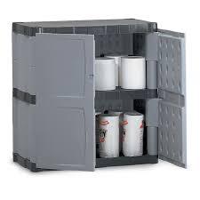 Rubbermaid Plastic Storage Cabinet with Double Door Plastic Storage