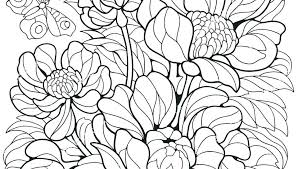 Flower Coloring Pages For Adults Flower Coloring Pages For Adult