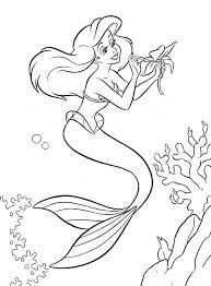 Walt Disney Coloring Pages Princess Ariel
