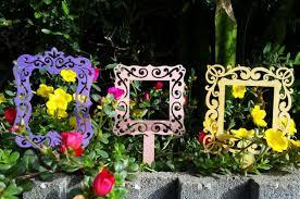 garden photo frames. Flower Frames Garden Craft Photo
