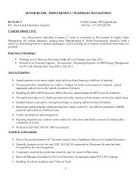 Senior Buyer Resume New Sample Resume Purchase Executive Construction Company