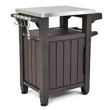grill storage cart outdoor patio prep cabinet station counter deck porch bbq bin