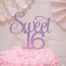 Amazoncom Sweet 16 Birthday Cake Topper Purple Handmade