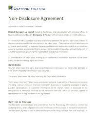 Simple Nda Template Free Nda Sample Template Non Disclosure Agreement Template Create A Free