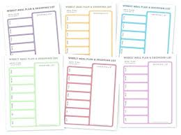 Meal Plan Template Free Weekly Planner Diet With Snacks