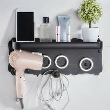 wall mount hair dryer holder stand rack