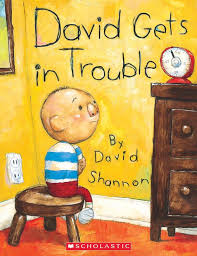 david gets in trouble is by david shannon this book is all about not making excuses when you do something wrong david is a little boy who says its not my