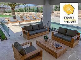 sydney staining services teak outdoor