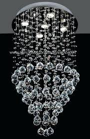 luminous collection 48 wide crystal chandelier modern chandeliers flush mount