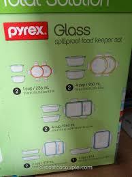 snapware pyrex glass food storage set costco 6