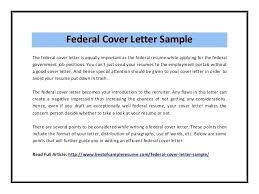 Cover Letter For Federal Job Chechucontreras Com