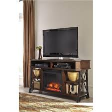 ashley furniture fireplace tv stand. Wonderful Stand W55268 Ashley Furniture Vinasville  Brown Home Entertainment Tv Console To Fireplace Stand S