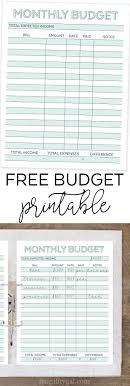 Budget Planners Free 25 Free Budget Printables Thatll Help You Manage Your Money