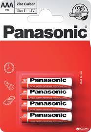 <b>Батарейки Panasonic</b> Red Zink угольно-цинковые <b>AAA</b> (R3)