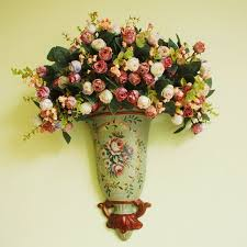 wall hanging artificial flowers with vintage vase advanced flower magnificent 9