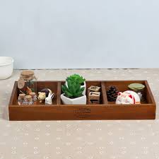 Decorative Display Boxes Vintage Retro Storage Boxes Handmade Wooden Box Plant Pot Tray 56