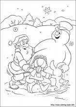 Frosty The Snowman Coloring Pages On
